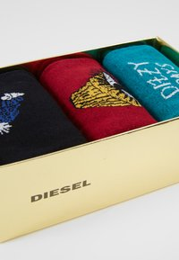 Diesel - SKM-HERMINE-THREEPACK SOCKS 3PACK - Socks - black/red - 2