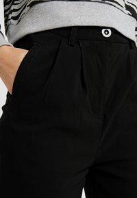 Urban Classics - LADIES HIGH WAIST CROPPED - Trousers - black - 5