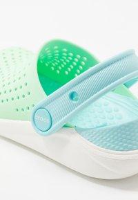 Crocs - LITERIDE UNISEX - Pool slides - neo mint/white - 2