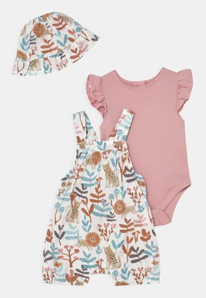 BABY SET - T-shirt print - cream mix