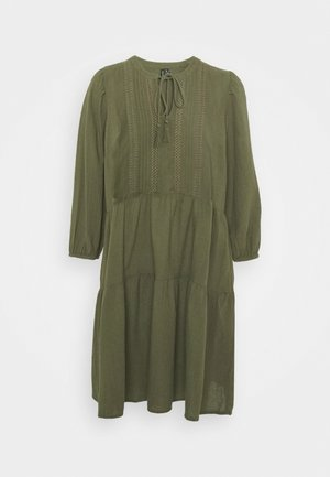 VMMUSTHAVE BOHO 3/4 TUNIC  - Day dress - ivy green