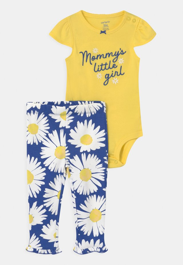 SET - T-shirt con stampa - yellow/blue