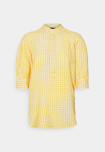 GINGHAM ELB SHIRT - Blouse - yellow/white