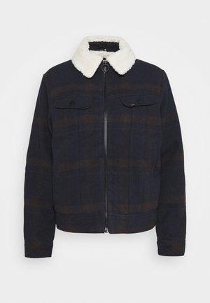 CHECK SHERPA - Winter jacket - winter brown