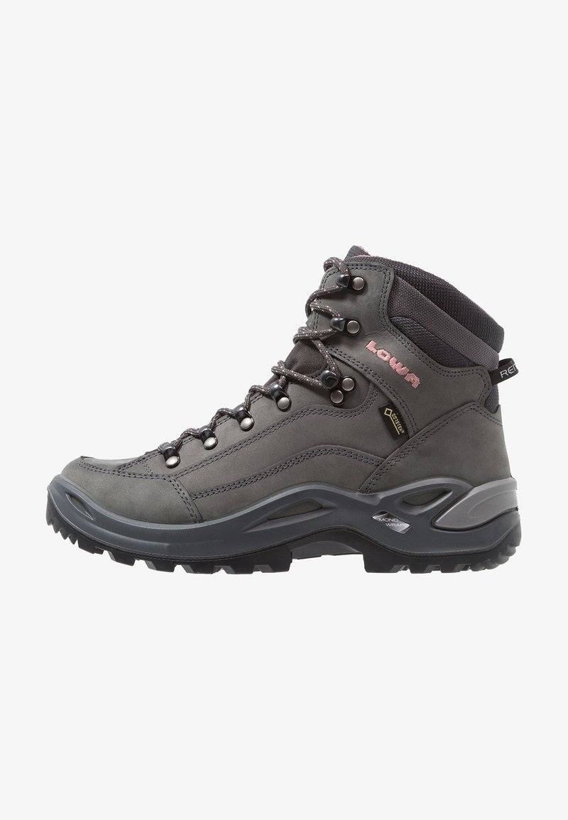 Lowa - RENEGADE GTX MID - Hiking shoes - graphite/rosé