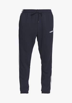 ESSENTIALS 3STRIPES FRENCH TERRY SPORT PANTS - Träningsbyxor - navy
