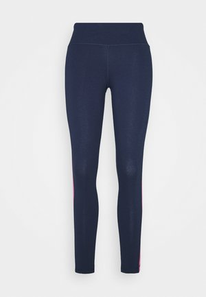 LINEAR LOGO LEGGING - Tights - dark blue