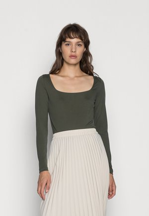 CASPIAN SQUARE NECK LONG SLEEVE - Long sleeved top - olive