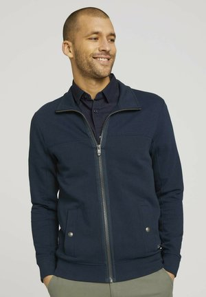 MIT STEHKRAGEN - veste en sweat zippée - dark blue