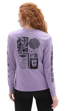 WM GROUP CHAT - Long sleeved top - chalk violet