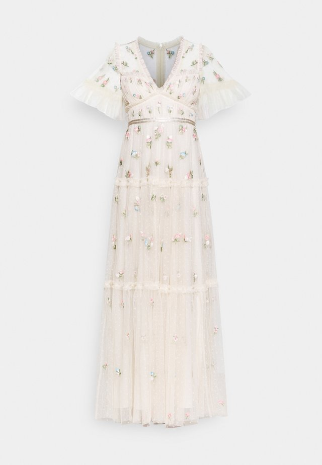 MADELINE DITSY SHORT SLEEVE GOWN - Iltapuku - champagne
