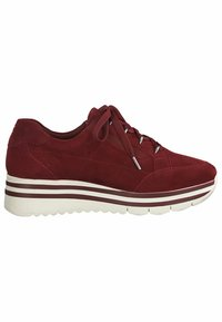 Tamaris Pure Relax - LACE UP - Trainers - scarlet suede - 3