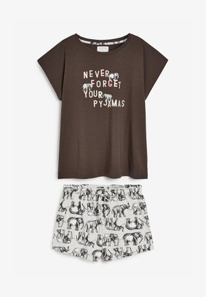 2 PIECE SET - Pyjama set - brown / grey