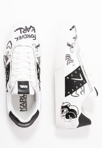 KARL LAGERFELD - SKOOL BANDANA LACE - Sneakers - white/black - 3