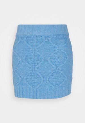 CABLE SKIRT - Mini skirt - heritage blue