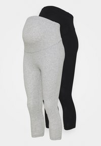 Anna Field MAMA - 2 PACK - Leggings - Trousers - black/light grey - 0