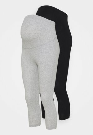 2 PACK - Legginsy - black/light grey