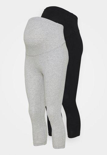 2 PACK - Leggings - black/light grey