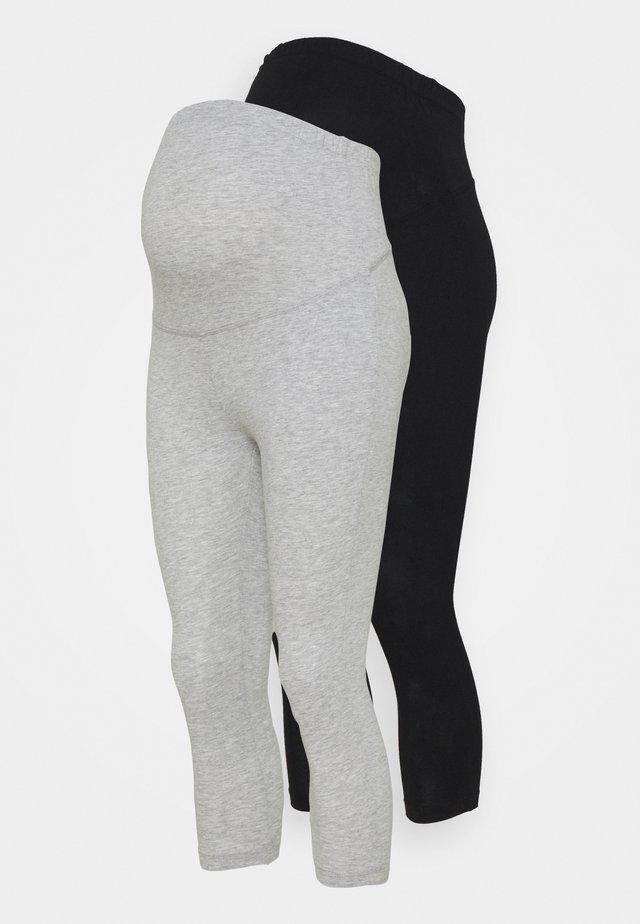 2 PACK - Leggings - Trousers - black/light grey