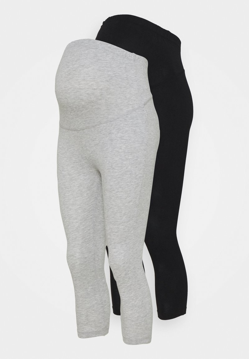 Anna Field MAMA - 2 PACK - Leggings - Trousers - black/light grey