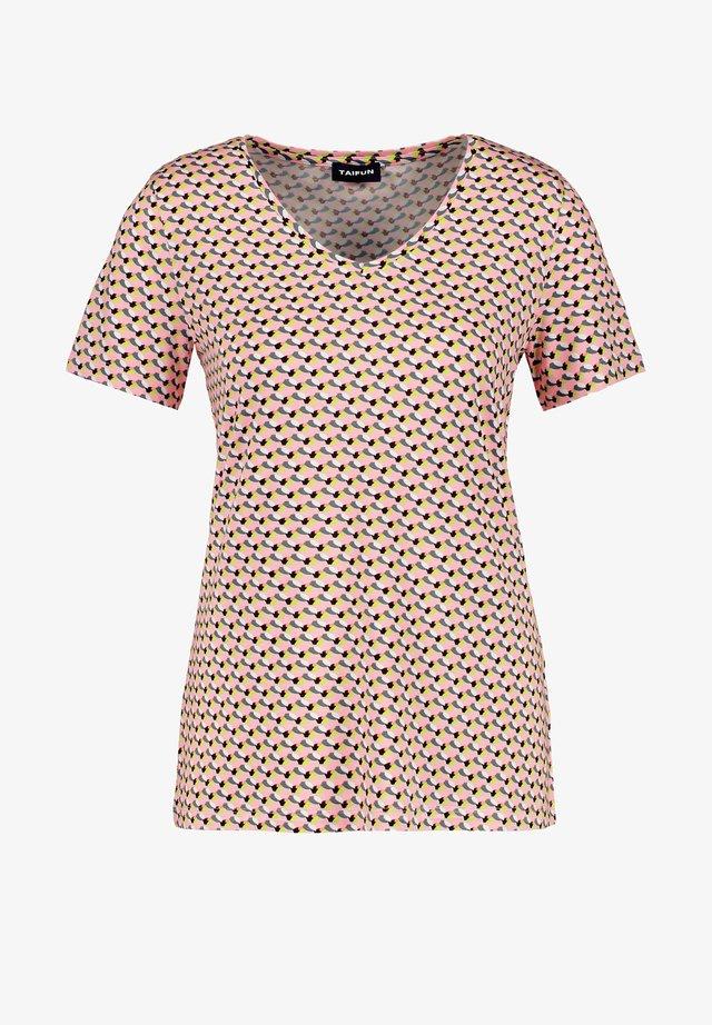 T-shirt imprimé - candy rose gemustert