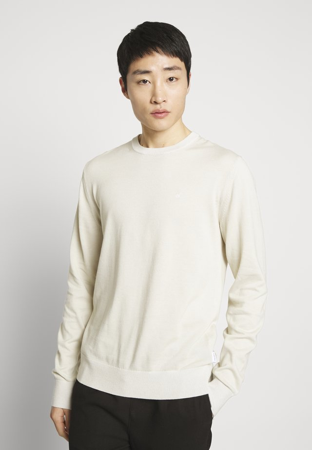 C NECK - Jumper - beige