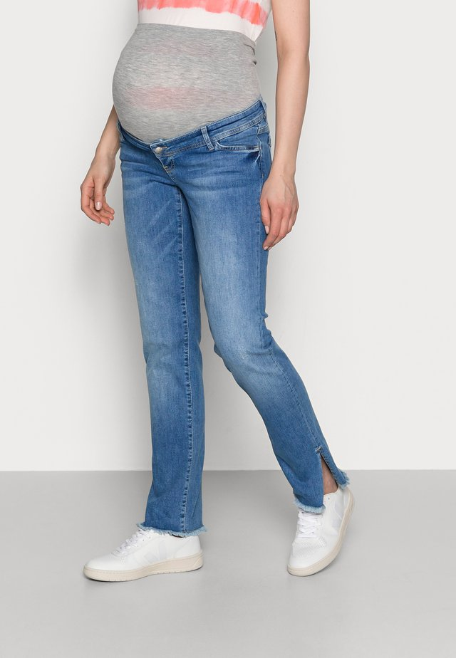 MLCRYSTAL CROPPED - Jeansy Straight Leg - light blue denim