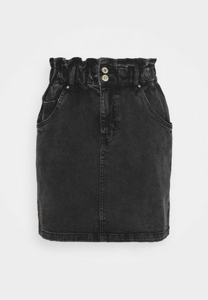 JDYSIGNE LIFE PAPERWAIST SKIRT - Denim skirt - black denim