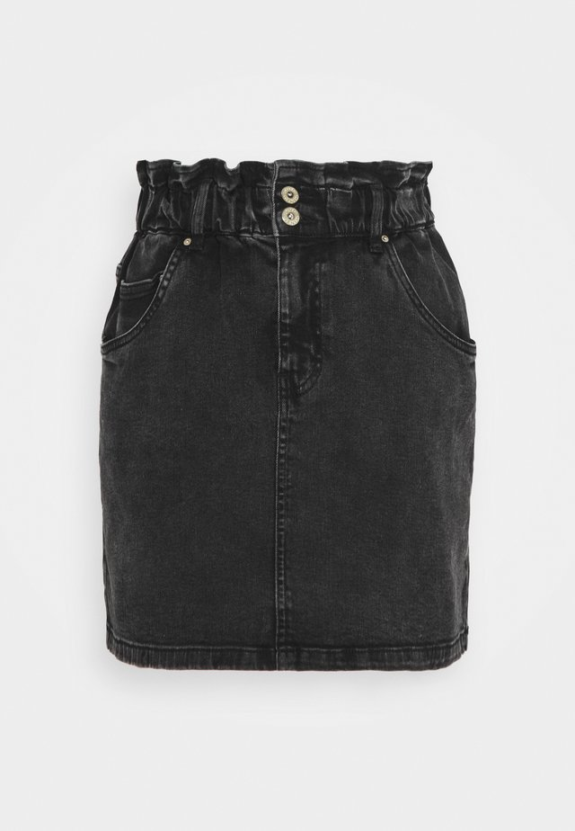 JDYSIGNE LIFE PAPERWAIST SKIRT - Jeansrock - black denim