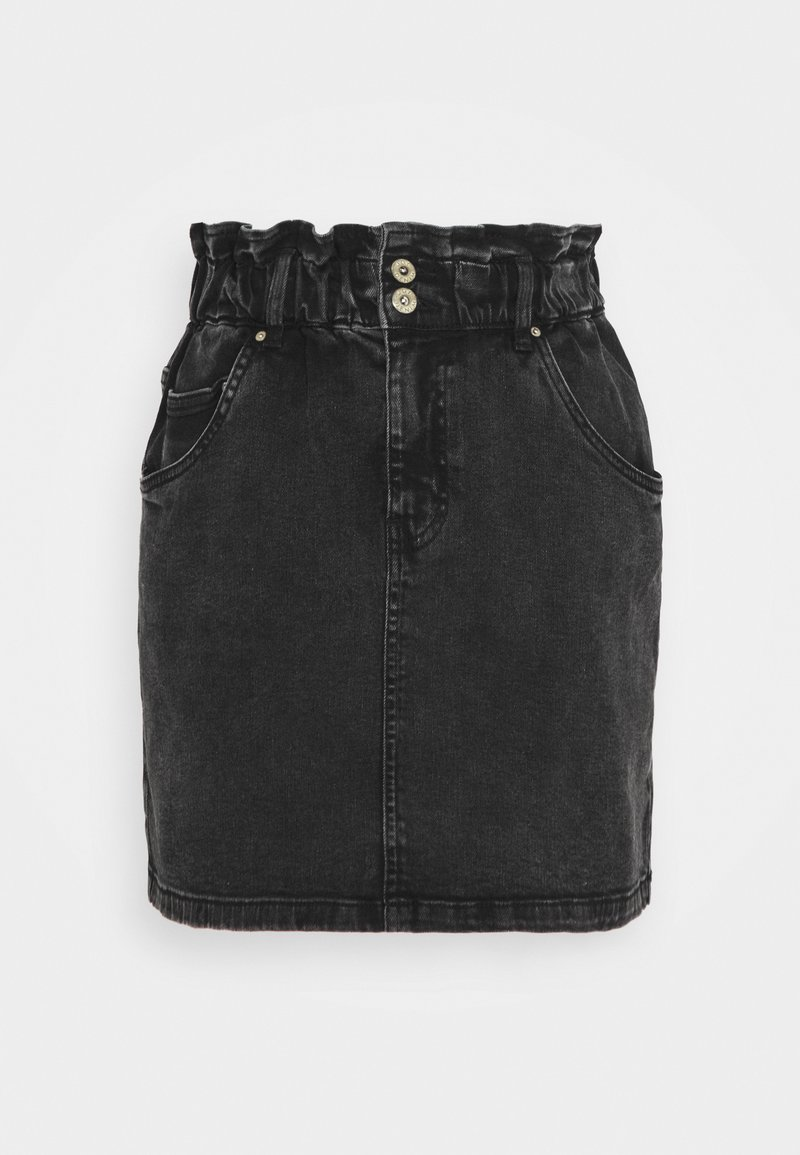 JDY - JDYSIGNE LIFE PAPERWAIST SKIRT - Denim skirt - black denim