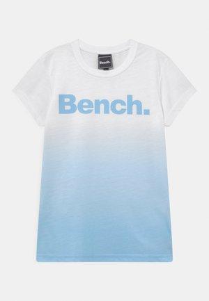 CASSIA - T-Shirt print - white/sky