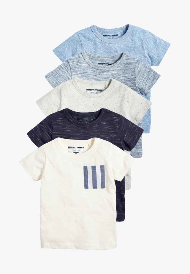 FIVE PACK - T-shirt con stampa - blue