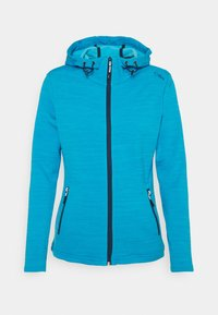 CMP - WOMAN JACKET FIX HOOD - Fleece jacket - ibiza melange - 0
