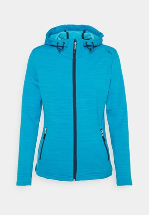 WOMAN JACKET FIX HOOD - Fleecejakke - ibiza melange