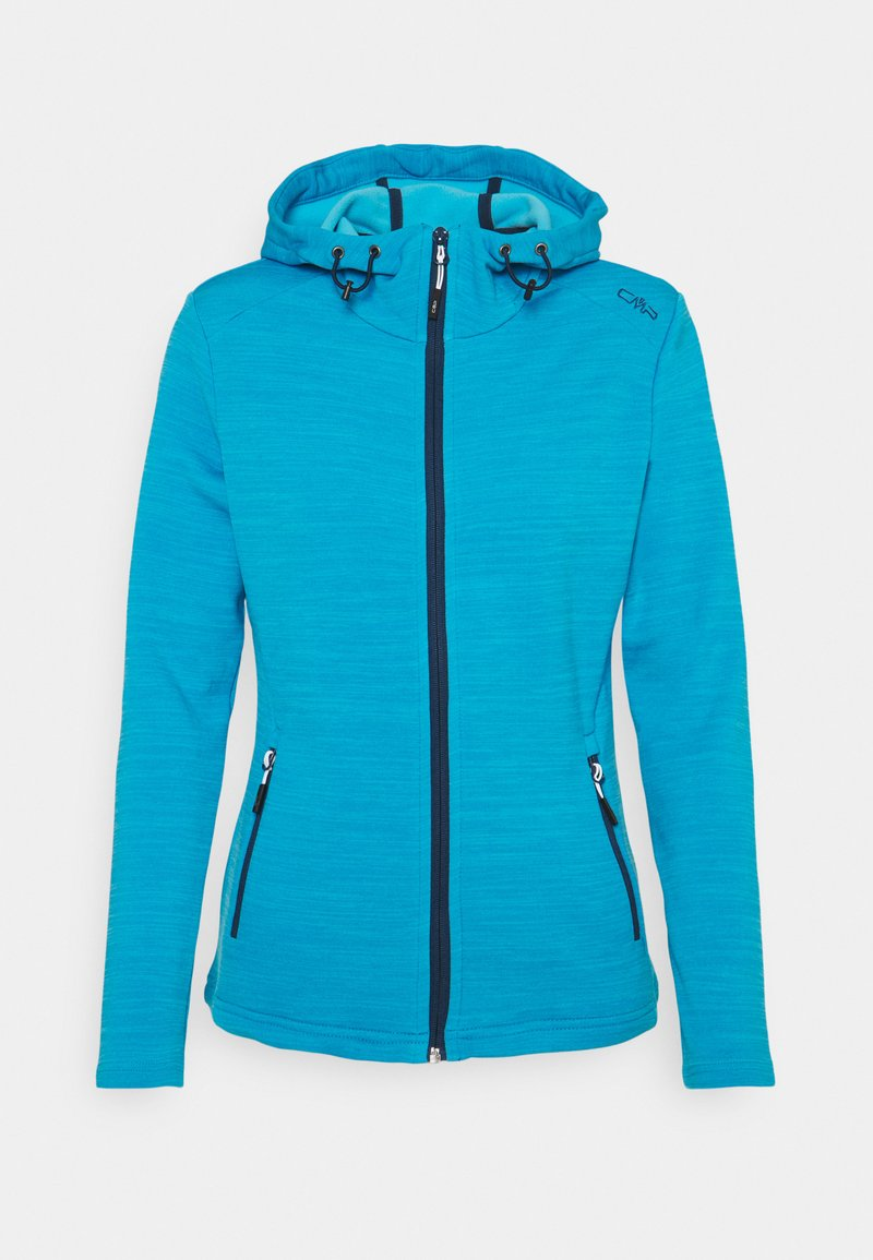 CMP - WOMAN JACKET FIX HOOD - Fleece jacket - ibiza melange