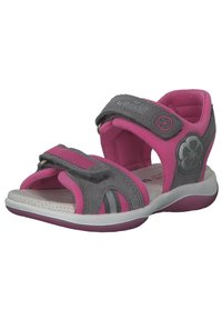 Superfit - Walking sandals - hellgrau rosa - 1