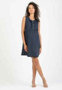 Attesa Maternity - GIULIETTA - Korte jurk - blue - 1