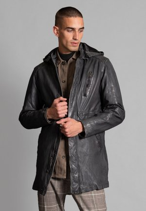 Leather jacket - grau
