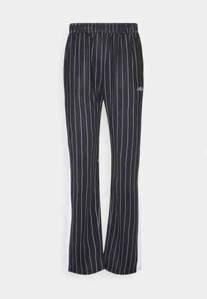JAIMI PINSTRIPE TRACK PANTS - Tracksuit bottoms - black/bright white
