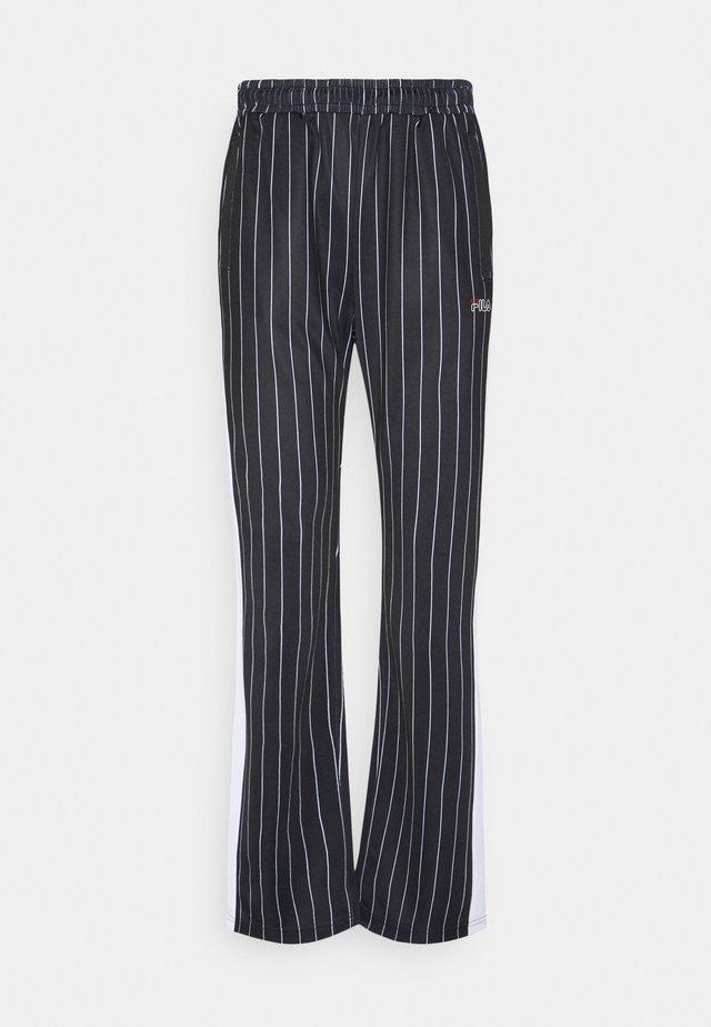 JAIMI PINSTRIPE TRACK PANTS - Pantalon de survêtement - black/bright white