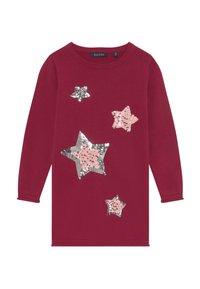 Blue Seven - KIDS SEQUIN STARS - Robe pull - bordeaux - 3