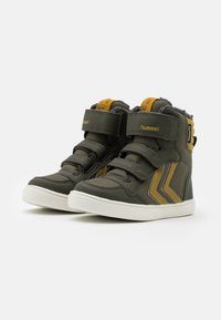 Hummel - STADIL SUPER POLY MID JR - High-top trainers - olive night - 1