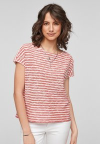 s.Oliver - T-shirt print - red stripes - 0