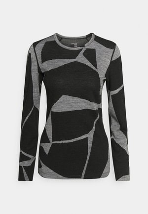 VERTEX CREW LANDSCAPES - Long sleeved top - black