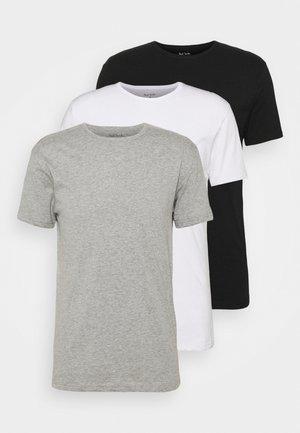 MEN 3 PACK - Podkoszulki - white/black/grey