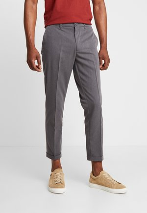 DAWEI - Trousers - mottled anthracite