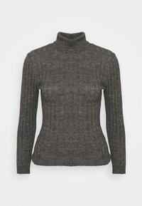 Zign - Wool blend- fitted roll neck - Jersey de punto - mottled dark grey - 4