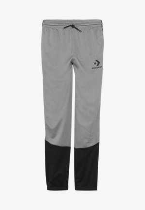 STAR CHEVRON COLORBLOCK TAPING TRACK PANT - Tracksuit bottoms - dark grey heather