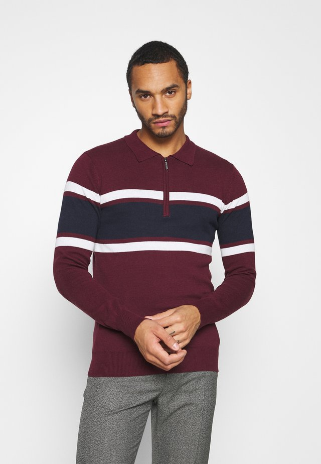 WEBSTER - Trui - deep maroon/vintage white/french navy