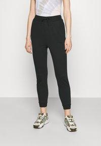 Even&Odd - 2er PACK - Slim fit joggers - Tracksuit bottoms - black/mottled beige - 3